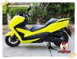 ขายสดผ่อน Forza 300 สีเหลืองจดเดือนธันวาคม 60 ผ่อนเดือน 2730 บาท