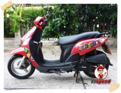 ขายสด Yamaha Fiore ระบบหัวฉีดสีแดงปี 55 เครื่องดีล้อแม็กเล่มพร้อม