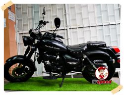 ขายช๊อปเปอร์ Platinum Monaco 200 cc สีดำด้านท่อคู่รถเครื่องเดิมทรงเทห์