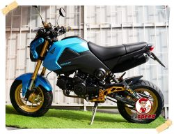 Honda MSX 125 ไฟกลมทำสีฟ้าเครื่องดีจดปี 58 ใส่เกียร์โยง เอกสารเล่มเขียวมีครบ