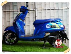 ขายรถบ้าน Grand Filano 125 Sportivo  สีน้ำเงินจดปี 61 ของแต่งแท้ศูนย์เดิมๆ